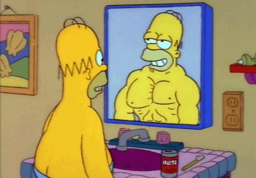 homer gif espejo
